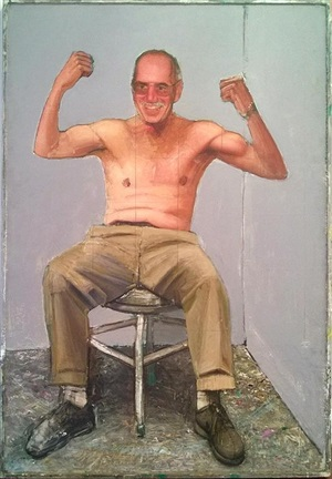 self portrait, triumphant 2 by gregory joseph gillespie