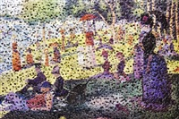 after seurat by vik muniz