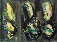 3 lions heads by john piper