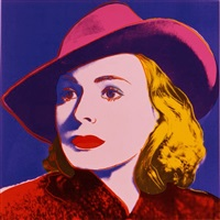 ingrid bergman: with hat fs ii.315 by andy warhol