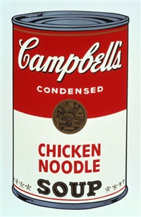 chicken noodle, from campbell's soup i fs ii.45 by andy warhol