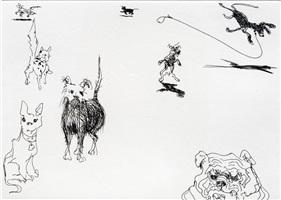 eight dogs by wayne thiebaud