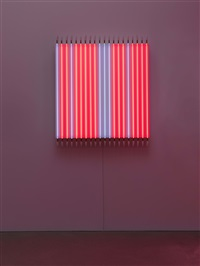 rouge pair - bleu impair n°6 by françois morellet