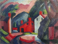 view of lehnenburg, pennsylvania by oscar florianus bluemner