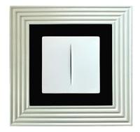 concetto spaziale blanco by lucio fontana