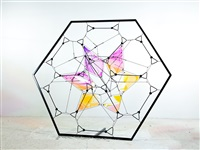 tensigrity net metal frame (working title) by tomas saraceno