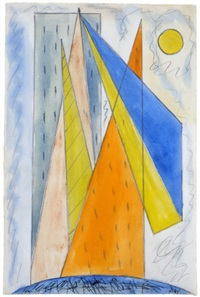 untitled (new york abstraction) by abraham walkowitz