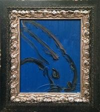 blue bunny (bill) by hunt slonem