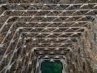 stepwell #3, chand baori, abhaneri, rajasthan, india by edward burtynsky