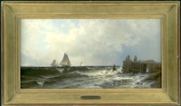 old pier at naraganset by alfred thompson bricher