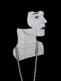 louise brooks, diamonds series by vik muniz