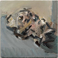 reclining head of julia by frank auerbach