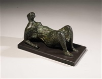 maquette for draped reclining figure by henry moore