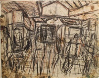 the booking hall by leon kossoff