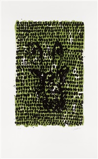 grünes tuch / green cloth by georg baselitz