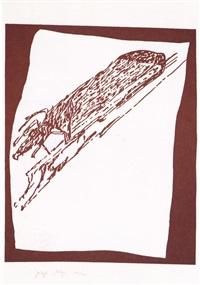 hirsch auf urschlitten / stag on primeval sled by joseph beuys