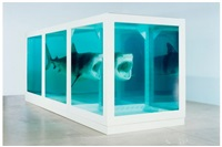 the physical impossibility of death in the mind of someone living - lenticular by damien hirst