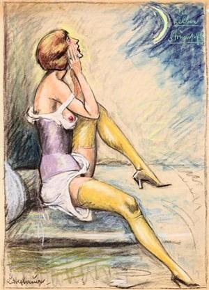 die gelben strümpfe by rudolf bauer