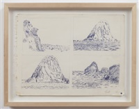 untitled (4 ponza landscapes) by paul thek