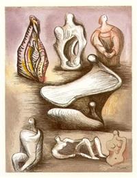 seven sculpture ideas ii by henry moore