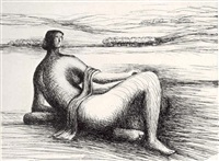 reclining figure (title page) from the reclining figure by henry moore