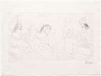 raphael et la fornarina vii: le pape est la assis, from the 347 series by pablo picasso