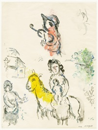 le coq violoniste by marc chagall