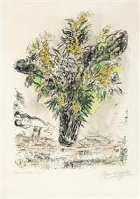 les mimosas (die mimosen) by marc chagall