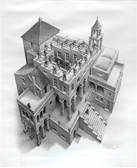 ascending and descending by m. c. escher