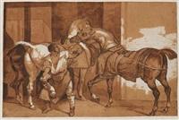 le maréchal-ferrant anglais by théodore géricault