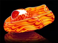 tiger lily seaform pair by dale chihuly