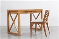 bureau et chaise croisillon / croisillon desk & chair by jean royère