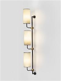 applique 3 lumière / 3 arm wall lamp by jean royère
