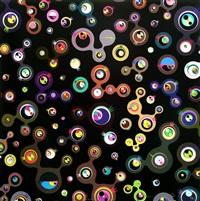 jelly fish eyes - black 5 by takashi murakami