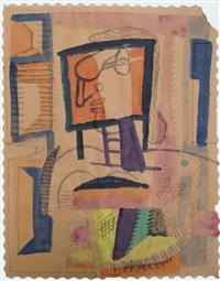 portrait de femme de profil by le corbusier