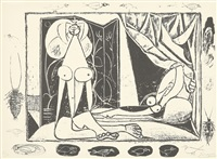 les deux femmes nues (die zwei frauenakte) by pablo picasso