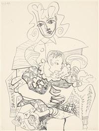inès et son enfant (inès und ihr kind) by pablo picasso