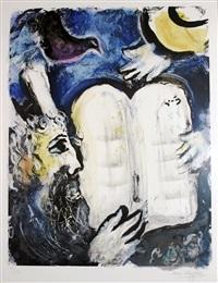 moise et les tables de la loi by marc chagall