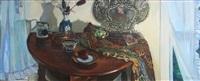 interior room scene by luigi lucioni