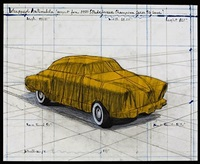 wrapped automobile by christo and jeanne-claude