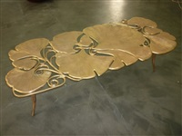 table basse gingko (longue) by claude lalanne