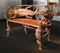 nouvelle banquette crocodile by claude lalanne