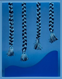 four braids (blue) by elad lassry