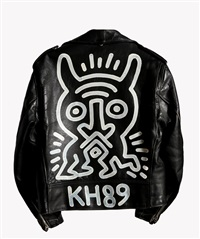 schott brothers motorcycle jacket by keith haring