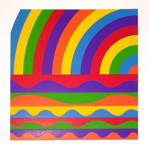 arcs and bands in color d by sol lewitt