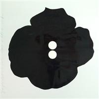 single black button by donald sultan
