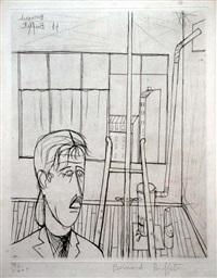 personnage dans l'atelier (self-portrait) by bernard buffet