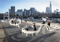 long modified bench san francisco by jeppe hein