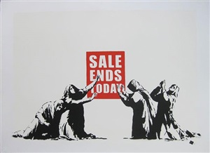 sale ends (unsigned) by banksy