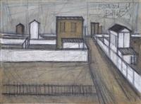 paysage de banlieue (recto), 1949<br>nature morte, etude (verso), 1948 by bernard buffet